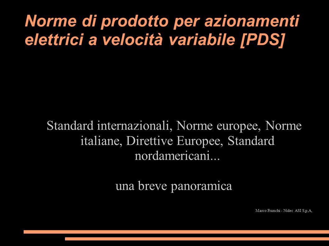 Norme di prodotto per azionamenti elettrici a velocità variabile [PDS]